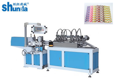 Energy Saving Drinking Straw Making Machine With Multi Cutter For Paper Strew